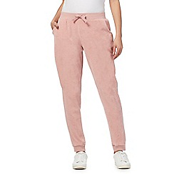 Red Herring - Pink velour jogging bottoms