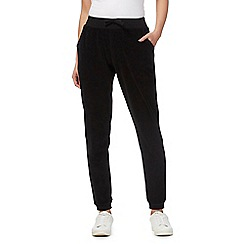 Red Herring - Black velour jogging bottoms