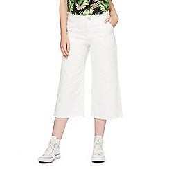 Noisy may - White cropped wide leg jeans