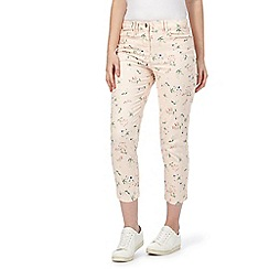 Red Herring - Multi-coloured printed cropped jeans