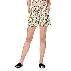 Red Herring - Multicoloured pineapple print poplin shorts
