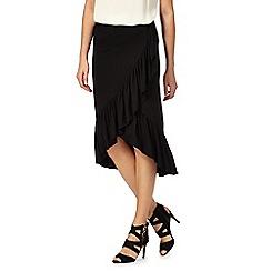 Red Herring - Black ruffle wrap skirt