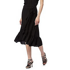 Red Herring - Black frill wrap skirt
