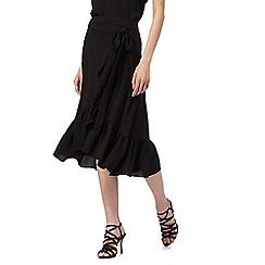Red Herring - Black frill wrap skirt