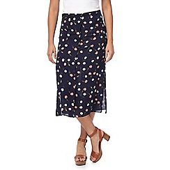 Red Herring - Navy floral print skirt