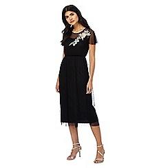 Red Herring - Black floral mesh dress