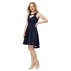 Red Herring - Navy lace skater dress