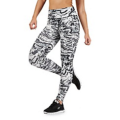 Red Herring - Black and white marble print leggings