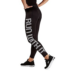 Red Herring - Black slogan print leggings
