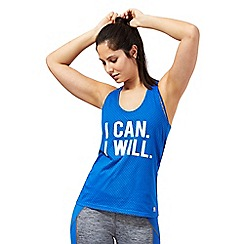 Red Herring - Blue 'I Can I Will' print vest