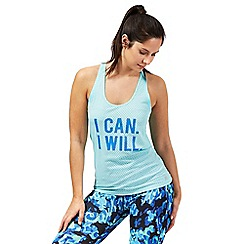 Red Herring - Teal 'I Can I Will' racerback vest