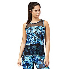 Red Herring - Blue animal print sleeveless mesh vest