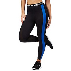 Red Herring - Black active crop leggings
