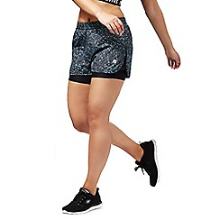Red Herring - Black speckled print gym shorts