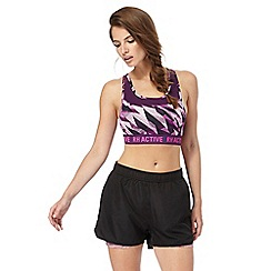 Red Herring - Purple printed non-wired padded sports bra