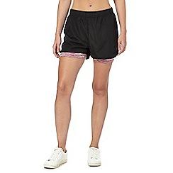 Red Herring - Black space dye shorts