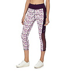 Red Herring - Purple geometric print cropped leggings