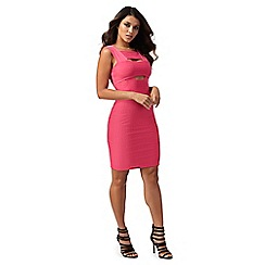 Red Herring - Pink bandage mini bodycon dress