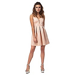 Red Herring - Pink v-neck mini prom dress