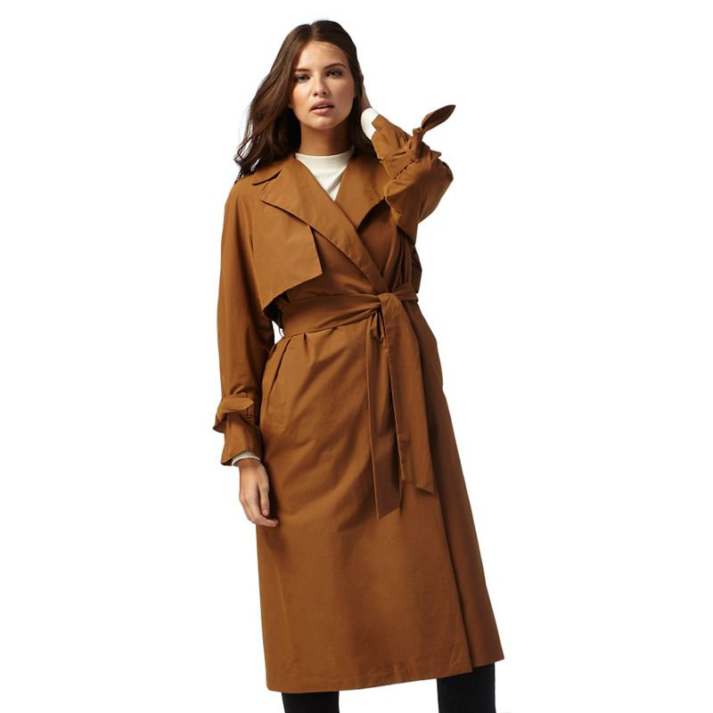 Red Herring Tan unlined trench coat