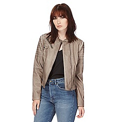 Red Herring - Taupe biker jacket