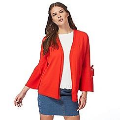 Red Herring - Red bell sleeve cardigan