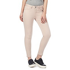 Red Herring - Pale pink 'Holly' superskinny ankle grazer jeans
