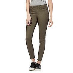 Red Herring - Khaki 'Holly' super skinny ankle grazer jeans