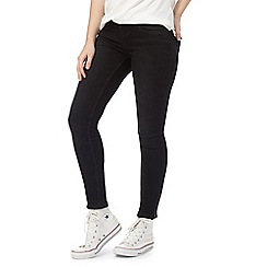 Noisy may - Black skinny fit ankle zip jeans
