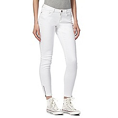 Noisy may - White skinny fit 'Eve' cropped jeans