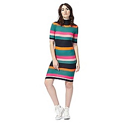 Noisy may - Multi-coloured striped print knitted dress