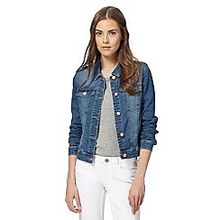 Noisy may - Blue mid wash 'Debra' denim jacket
