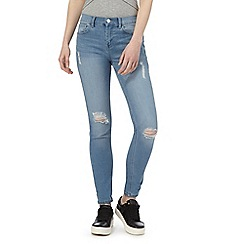 Red Herring - Blue mid wash 'Chloe' relaxed skinny jeans