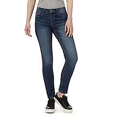 Red Herring - Dark blue 'Chloe' relaxed skinny jeans