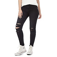 Noisy may - Black 'Lucy' ankle jeans