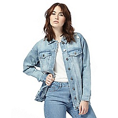 Noisy may - Light blue distressed denim jacket