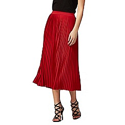 Red Herring - Red pleated skirt