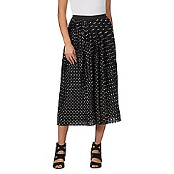 Red Herring - Black printed pleated skirt