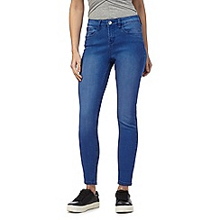 Red Herring - Blue 'Holly' superskinny mid wash ankle grazer jeans