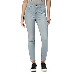 Red Herring - Grey 'Holly' superskinny mid wash ankle grazer jeans