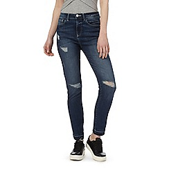 Red Herring - Dark blue 'Taylor' high-waisted slim fit jeans