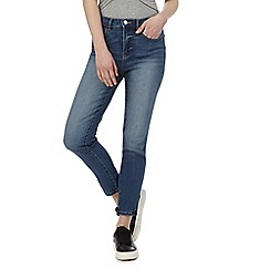 Red Herring - Blue 'Taylor' high-waisted slim fit jeans