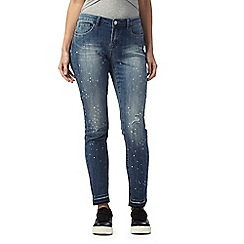 Red Herring - Blue 'Lulu' paint splatter skinny jeans