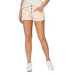 G-Star - Light pink button denim shorts