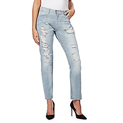 Wrangler - Light blue washed boyfriend fit jeans