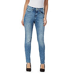 Wrangler - Mid blue high rise mid wash skinny jeans