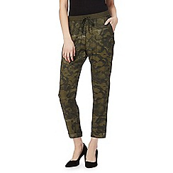 G-Star Raw - Khaki printed trousers