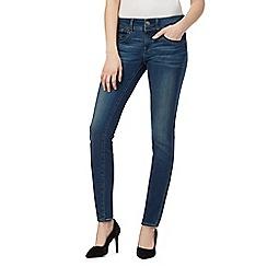 G-Star Raw - Dark blue 'Lynn' mid-rise skinny jeans