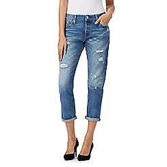 Levi's - Light blue 501 straight leg cropped jeans