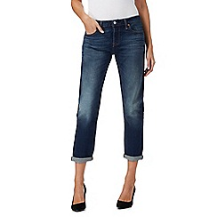 Levi's - Dark blue 501 straight leg cropped jeans
